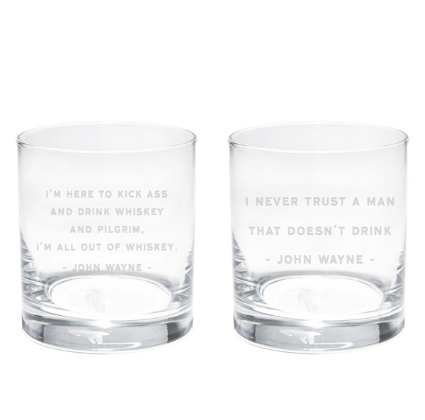 Quote Whiskey Glasses #4 - Set Of 2