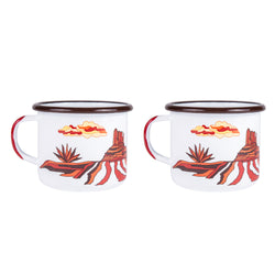 Go West Vintage Enamel Mug (Set)