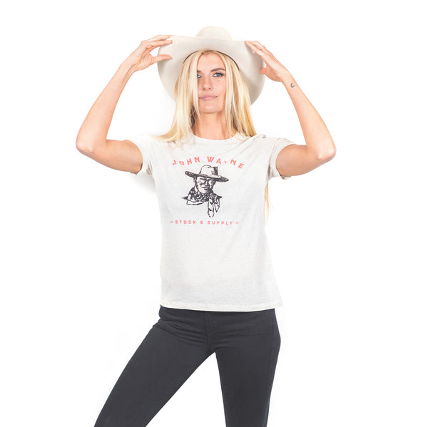 JW Women's Sketch Tee- White