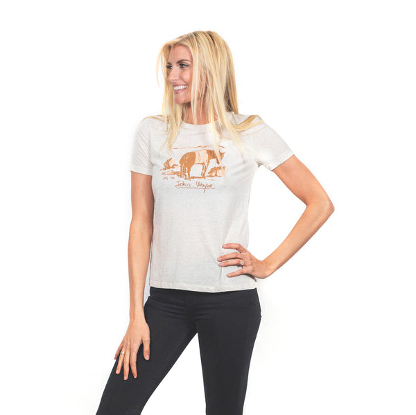 Women's CMG Greenbroke Tee- Heather Oatmeal