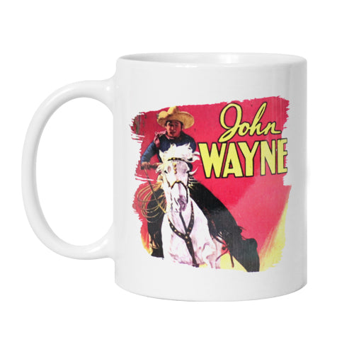 Official John Wayne Randy Rides Alone Mug