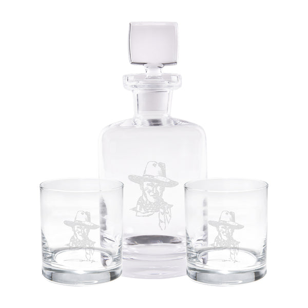 JW Flaming Sketch Decanter Set