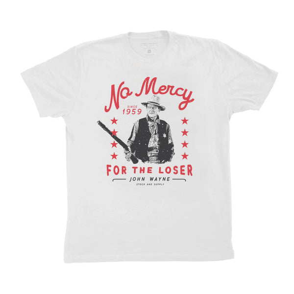 No Mercy Tee- White