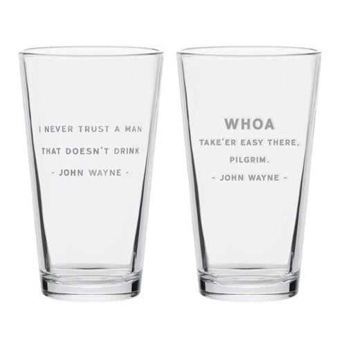 Official John Wayne Pint Glass Set