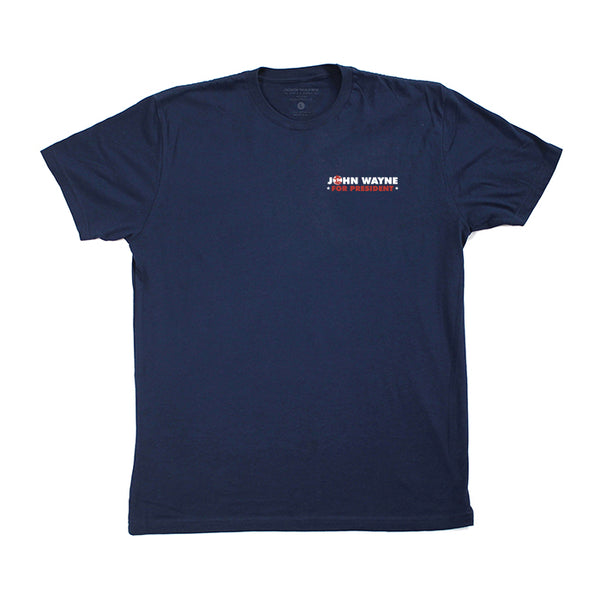 John Wayne For President Tee- Navy