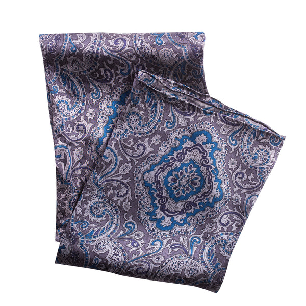 Official John Wayne Paisley Blue/Silver Silk Neckerchief