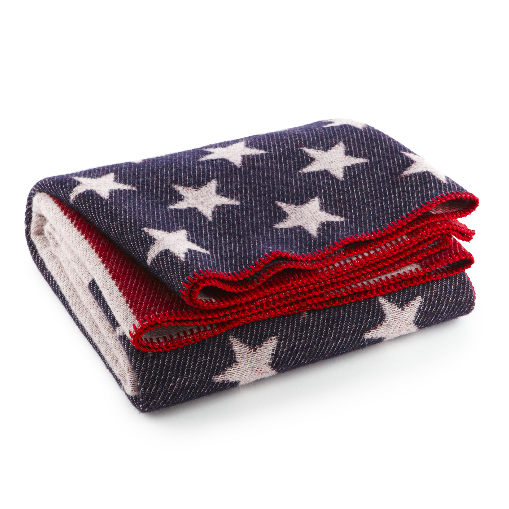 Official John Wayne American Flag Wool Blanket