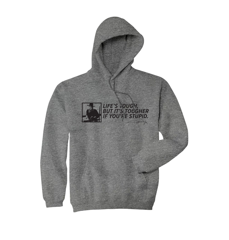 Life's Tough Hoodie - Gunmetal Heather