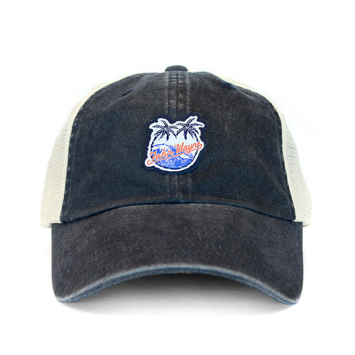Official John Wayne Palm Tree Trucker - Navy