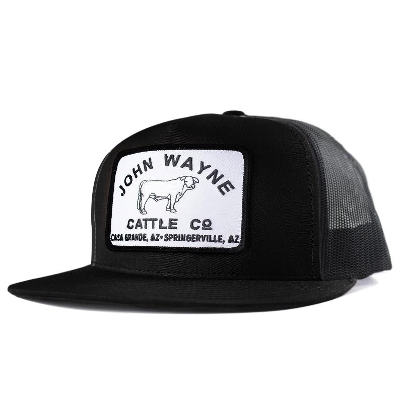 Cattle Co Flat Bill Trucker Hat - Black