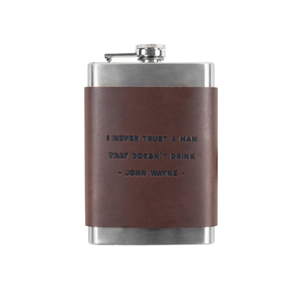 H+H JW Leather Flask