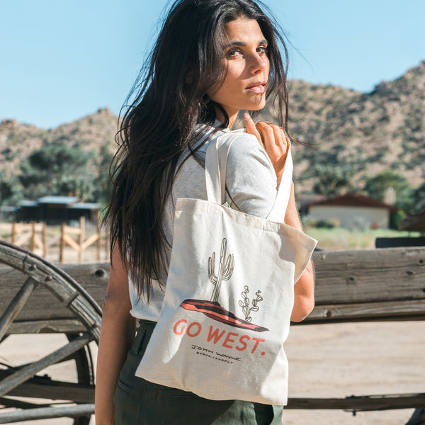 Go West Canvas Tote Bag