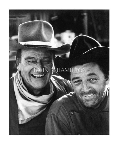 JOHN WAYNE AND ROBERT MITCHUM, 1967