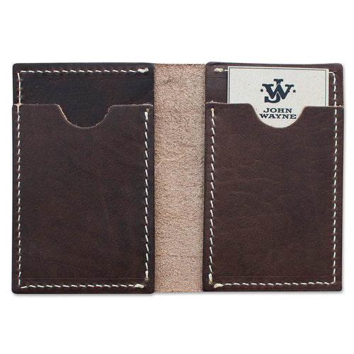 JW Credit Card Fold Wallet - Dark Brown
