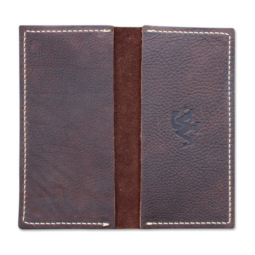 JW Checkbook Cover - Dark Brown