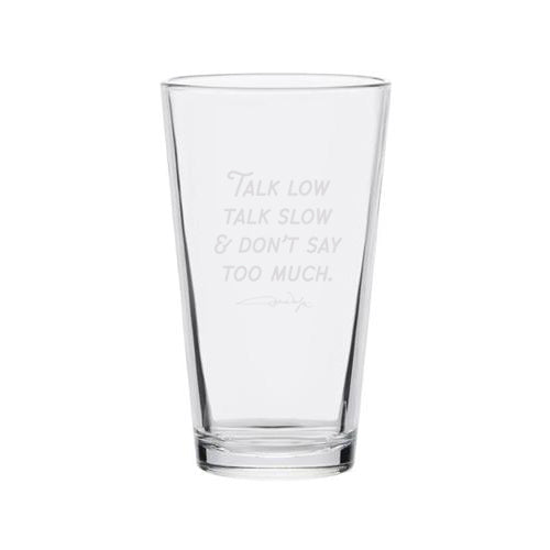 "'Talk Low' & ""Big Mouth"" Quote Pint Glass Set (Series 7)"