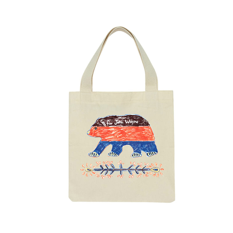 CMG For JW Bear Striped Tote Bag
