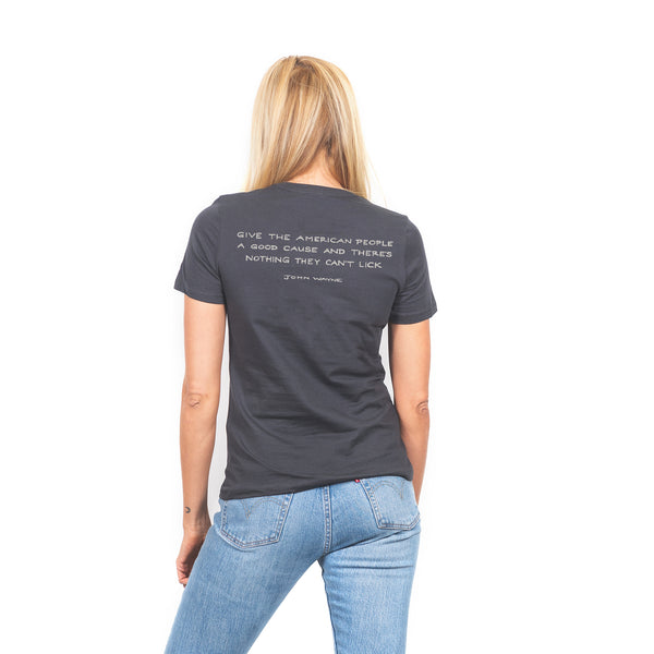 Women's The Quote Tee- Charcoal