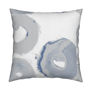Bagels French Blue Pillow