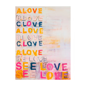 ABC Love Art Print