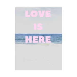 Love Is Here Beach Vertical Art Print