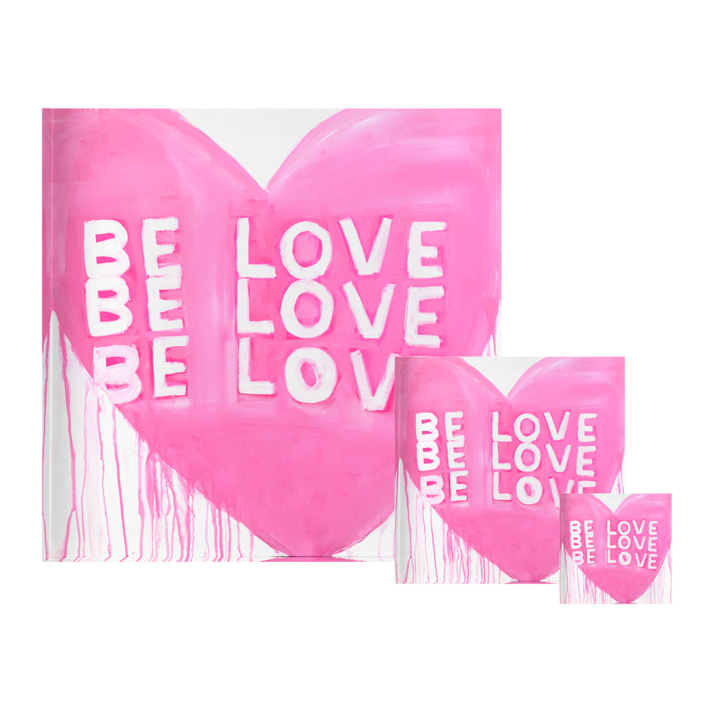 Be Love Be Love Drippy Heart Block of Love