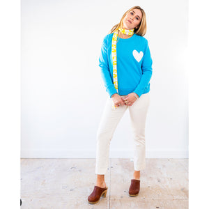 Imperfect Heart Sweatshirt True Blue/White