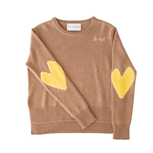 Patchwork Love Cashmere - Brown + Sunshine