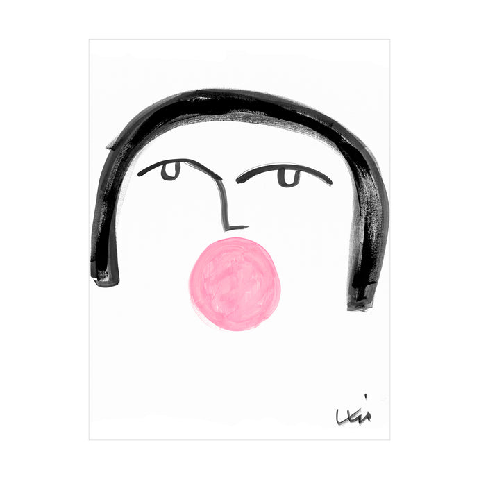Bubble Girl No. 4 Art Print