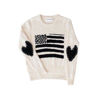 Love Has No Color Flag Cashmere Sweater - White