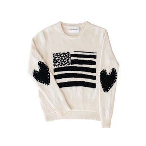 Love Has No Color Flag Cashmere Sweater White
