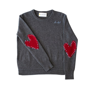 Patchwork Love Cashmere - Charcoal + Burgundy