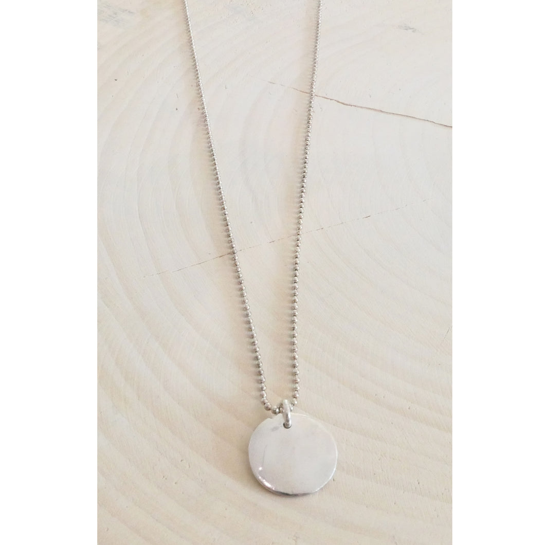 Circle Necklace - Sterling Silver