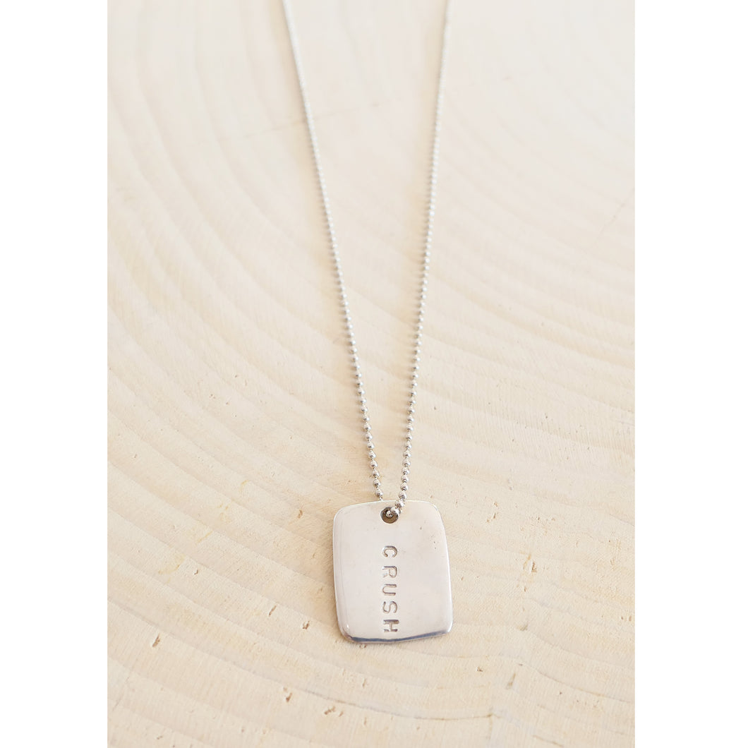 Crush Love Note Necklace - Sterling Silver