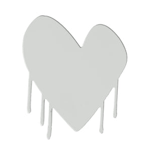 Drippy Heart Cut-Out Artwork (Dove)