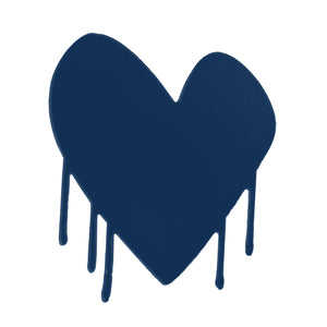 Drippy Heart Cut-Out Artwork (Indigo)