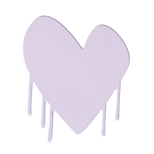 Drippy Heart Cut-Out Artwork (Mauve)