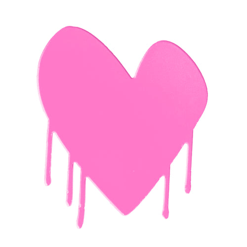 Drippy Heart Cut-Out Artwork (Pop Pink)