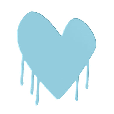 Drippy Heart Cut-Out Artwork (True Blue)
