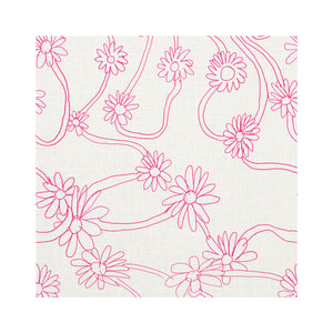 Daisy Pop Pink Fabric