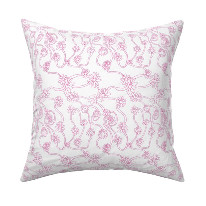 Daisy Pop Pink Pillow