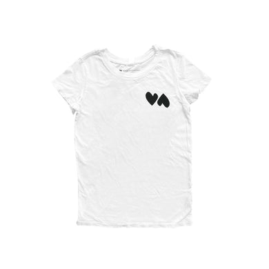Double Love White Tee - Carbon