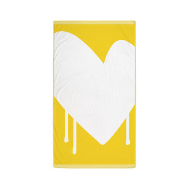 Drippy Heart Beach Towel