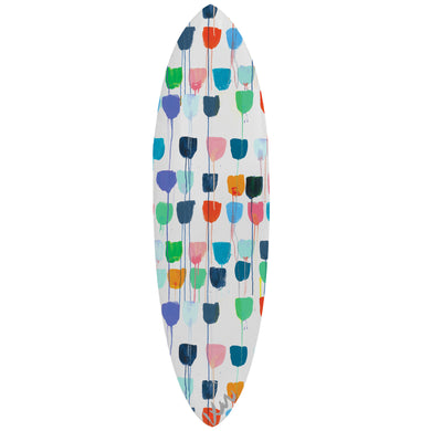 Drippy Tulips Surfboard