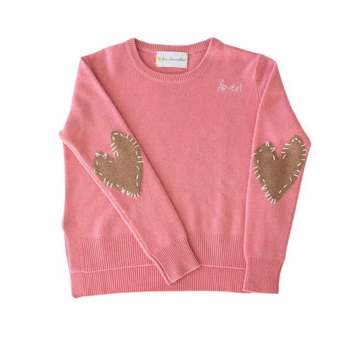 Patchwork Love Cashmere - Dusty Pink + Brown