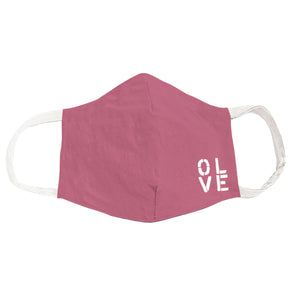 Olive You Dusty Pink Face Cover