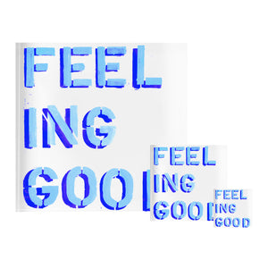 Feeling Good Blue Block of Love