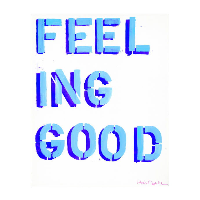 How You Feelin? Art Print - Blue