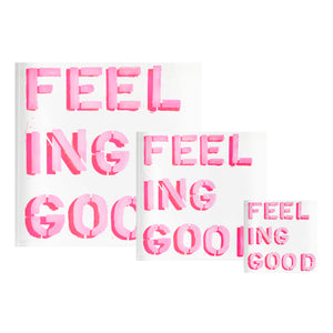Feeling Good Pink Block of Love