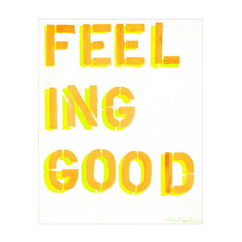 How You Feelin? Art Print - Yellow